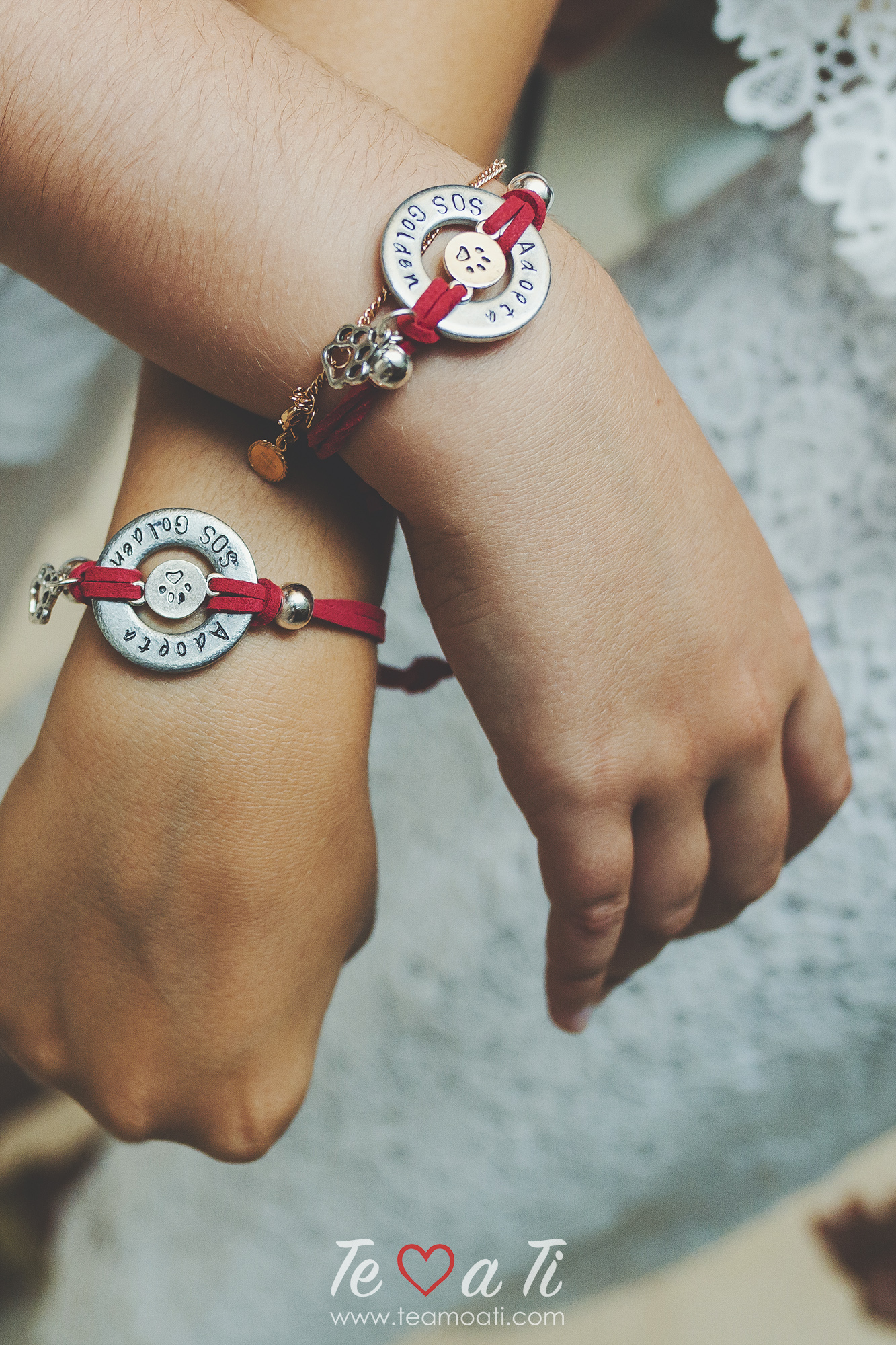 pulseras sos golden